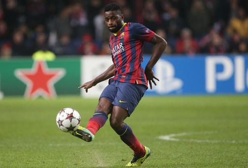 Barcelona midfielder Alex Song