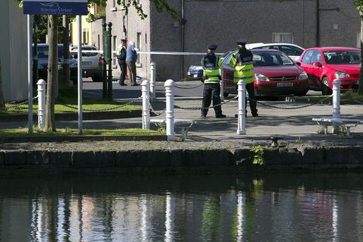 The scene of a fatal assault at The Harbour, Naas,Co. Kildare. Photo: Tony Gavin