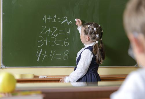Parents are concerned about their daughter falling behind in maths. Photo: Getty Images.
