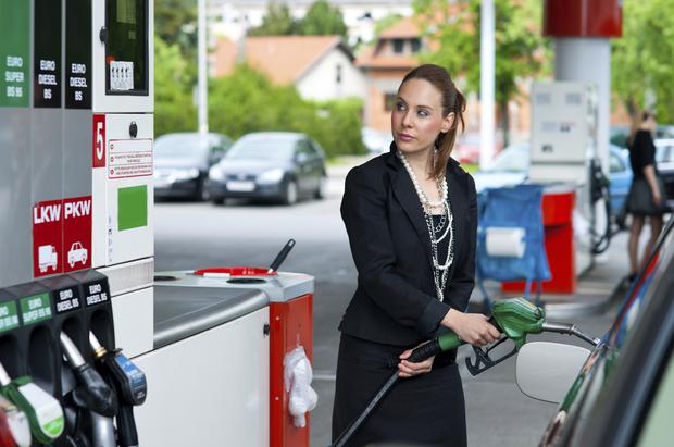 FILL HER UP: Irish drivers are taxed to the hilt on fuel