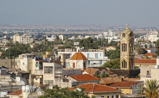 Top view at old part of Nicosia city