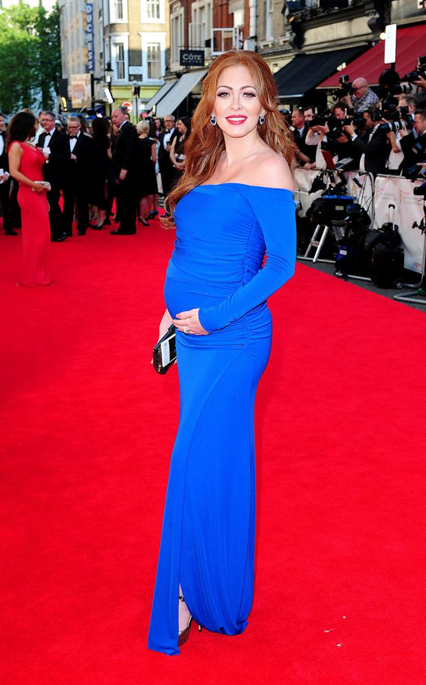 Natasha Hamilton arriving for the 2014 Arqiva British Academy Television Awards at the Theatre Royal, Drury Lane, London. Ian West/PA Wire