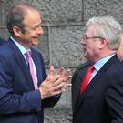 Micheal Martin and Eamon Gilmore are facing into a tough election.