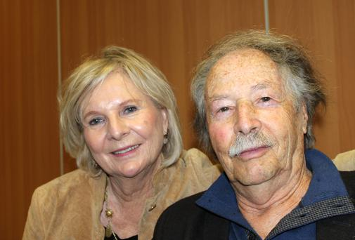 Holocaust survivor and children's author Uri Orlev with his wife of 50 years, Ya'ara.