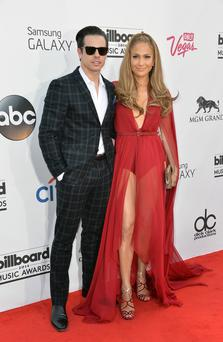 Choreographer Casper Smart and singer Jennifer Lopez attend the 2014 Billboard Music Awards at the MGM Grand Garden Arena