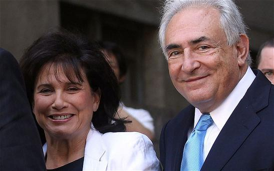Dominique Strauss-Kahn and his wife Anne Sinclair at New York State Supreme Court in 2011 Photo: 2011 Getty Images