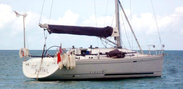 The Cheeki Rafiki yacht which capsized in the mid-Atlantic Ocean. Photo: Royal Yachting Association/PA Wire