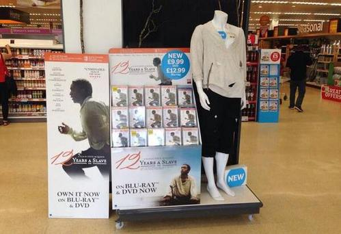 The display in the store