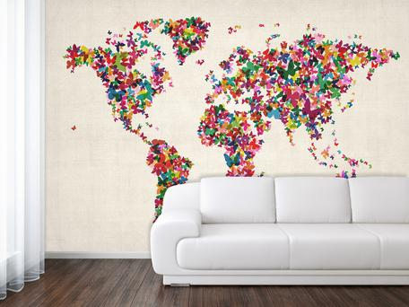 Butterflies map wallpaper, €356.20, mapsinternational.co.uk