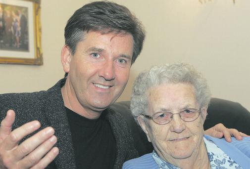 Daniel O'Donnell with his late mother Julia. Photo credit: Declan Doherty/PA Wire