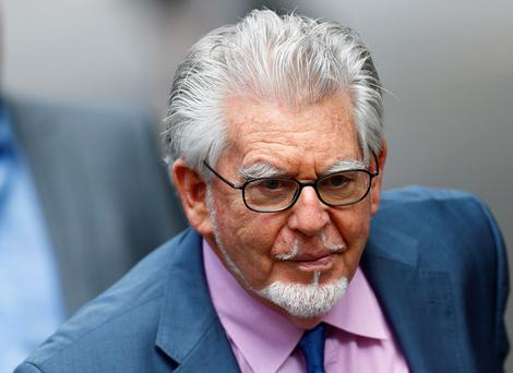 Entertainer Rolf Harris arrives at Southwark Crown Court in London