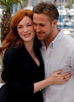 Director Ryan Gosling and cast member Christina Hendricks pose during a photocall for the film 'Lost River' in competition for the category 'Un Certain Regard' at the 67th Cannes Film Festival in Cannes. Reuters