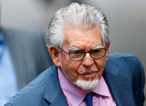Entertainer Rolf Harris arrives at Southwark Crown Court in London. Reuters