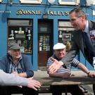 Cllr Aengus O'Rourke (FF) canvassing in Ballymahon, Co Longford last week. Photo: David Walsh