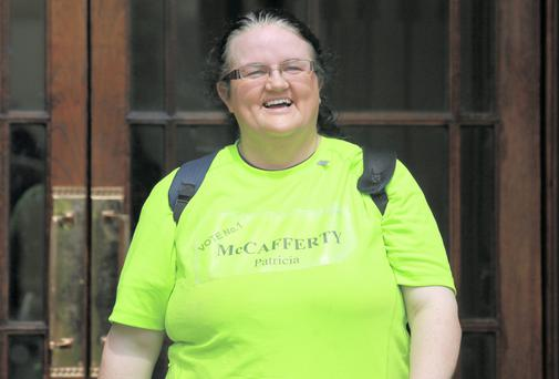 Patricia McCafferty, of Main Street, Bundoran, Co. Donegal, pictured leaving the Four Courts yesterday after a High Court action. Picture: Collins Courts