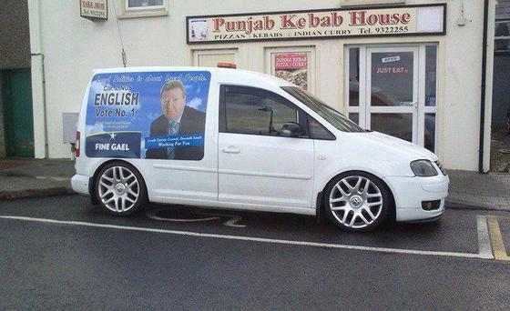 A number of candidates' campaign-branded vehicles have been snapped parking in disabled bays