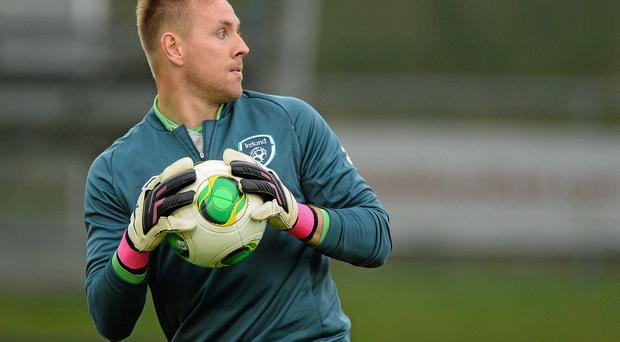 Ireland goalkeeper Rob Elliot