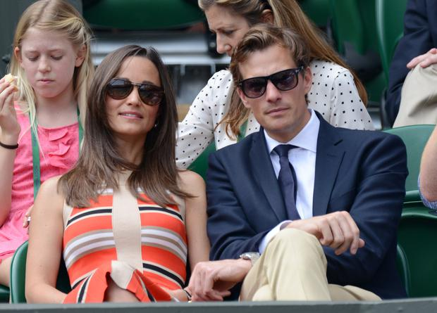 Pippa Middleton and Nico Jackson attend Day 11 of the Wimbledon Lawn Tennis Championships