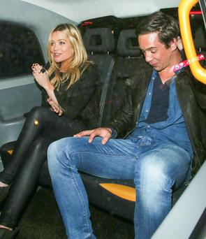 Laura Whitmore and Killian Scott in London; Picture: FameFlynet UK © 2014