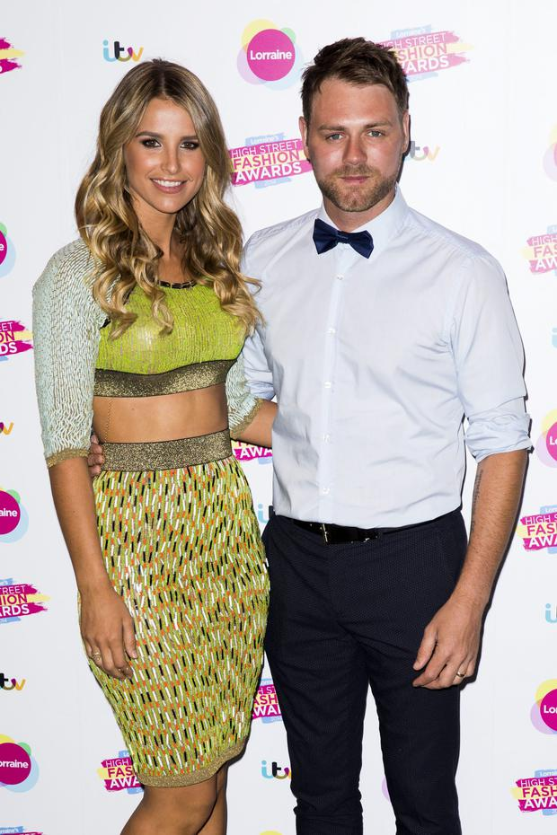 LONDON, ENGLAND - MAY 21: Vogue Williams and Brian McFadden attend Lorraine's High Street Fashion Awards on May 21, 2014 in London, England. (Photo by Tristan Fewings/Getty Images)