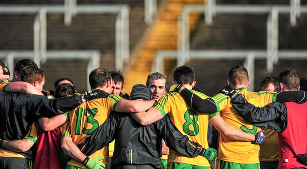 According to 1992 All-Ireland winner Tony Boyle, Jim McGuinness may be forced to go back to basics in an attempt to chisel a way through to the Ulster semi-final. Photo: Barry Cregg / SPORTSFILE