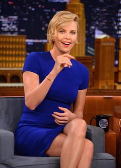 Charlize Theron visits