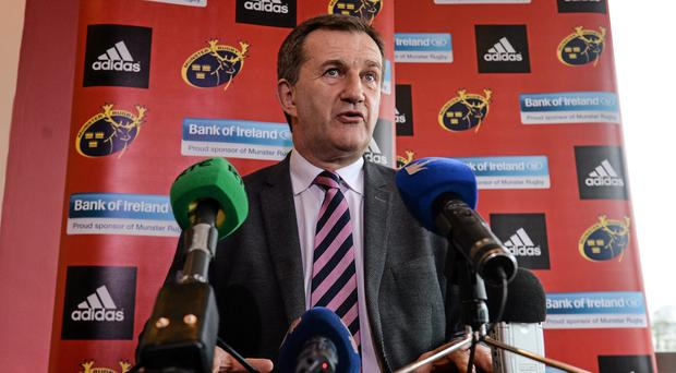 Munster CEO Garrett Fitzgerald will work on getting fans to buy into the Pro12 league campaign next season. Photo: Diarmuid Greene / SPORTSFILE
