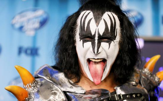Gene Simmons of the band Kiss at the American Idol XIII 2014 Finale in Los Angeles, California. Reuters/Danny Moloshok