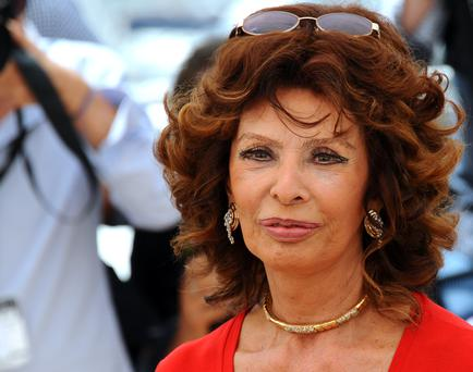 Sophia Loren attends a photocall to present Cannes Classics at the 67th Annual Cannes Film Festival