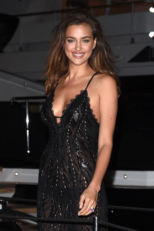 Irina Shayk attends the Roberto Cavalli yacht party at the 67th Annual Cannes Film Festival