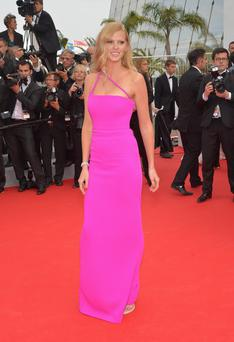 "Lara Stone attends ""The Search"" premiere during the 67th Annual Cannes Film Festival on May 21, 2014"