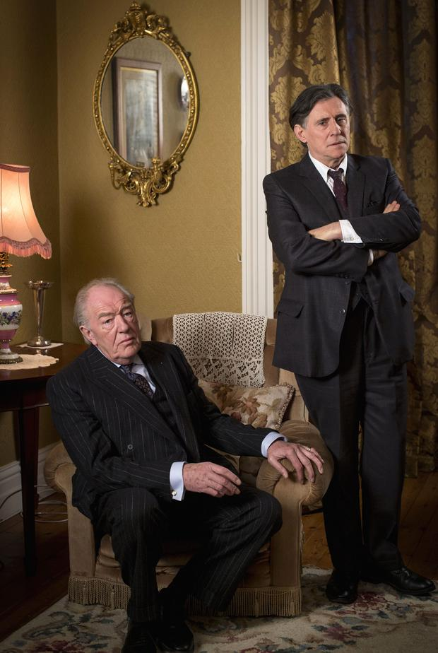 Quirke Picture Shows: Judge Garret Griffin (MICHAEL GAMBON), Quirke (GABRIEL BYRNE) (C) BBC - Photographer: Steffan Hill