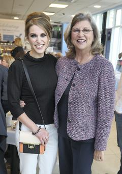 Amy Huberman with her mother, Sandra at Newbridge Silverwear's 80th anniversary. Picture credit; Damien Eagers 22/5/2014