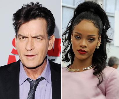 Charlie Sheen has launched a scathing attack on Rihanna after the singer turned down his request to introduce his girlfriend to her.