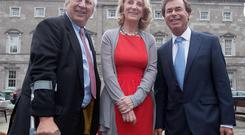 CEO and founder of the Jack & Jill Children's Foundation & his wife & Co-Founder, Senator Mary-Ann O'Brien with former Minister for Justice Alan Shatter. Photo: Gareth Chaney Collins