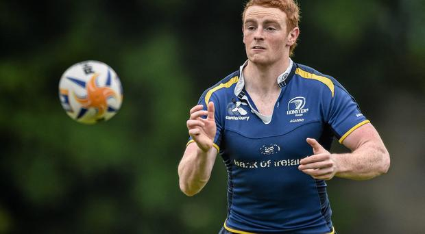 Leinster A's Cathal Marsh in action during training at UCD ahead of tonight's B&I final. Photo: David Maher / SPORTSFILE