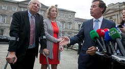 CEO and Founder of the Jack & Jill Children's Foundation Jonathan Irwin and his wife and co-founder Senator Mary-Ann O'Brien with former Minister for Justice Alan Shatter. Photo: Gareth Chaney Collins