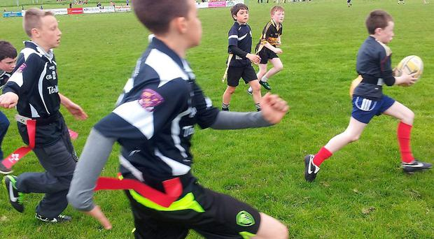 Kerry primary school pupils enjoy the Tag Rugby Blitz at Tralee RFC