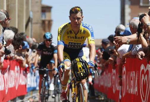 Nicolas Roche will line up at the Tour de France for his Tinkoff-Saxo team, but he will be the only Irish rider to compete in this year's grand tour. Photo: Harry Engels - Velo/Getty Images