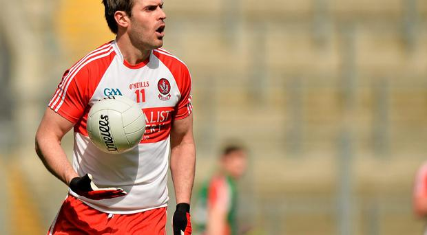 Mark Lynch in action for Derry