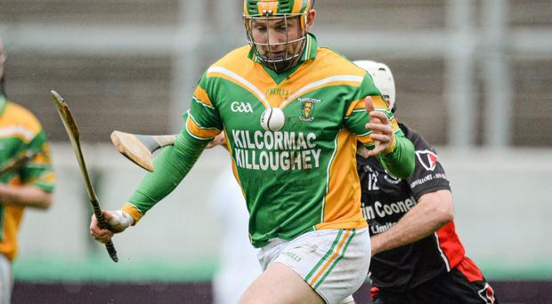 Ger Healion in action for Kilcormac-Killoughey