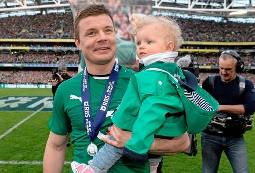 Brian O'Driscoll with his daughter Sadie