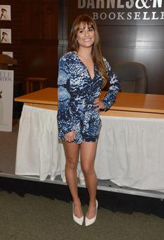 Actress Lea Michele signs copies of her new book
