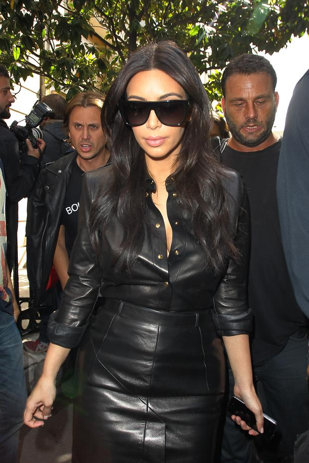 Kim Kardashian seen shopping at Dior on May 22, 2014 in Paris, France. (Photo by Neil P. Mockford/GC Images)