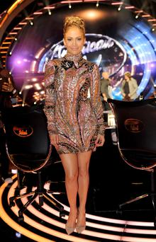 J-Lo stunned in her embellished ensemble ahead of the show's finale