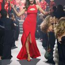 Irina Shayk walks the runway during amfAR's 21st Cinema Against AIDS Gala