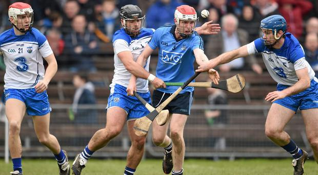 Noel Connors (centre, left) says Waterford will feed off their underdog status against Cork tomorrow. Photo: Stephen McCarthy / SPORTSFILE
