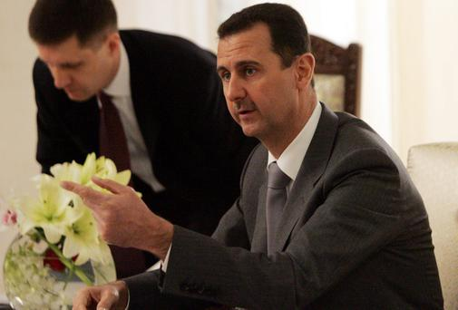 Syrian president Bashar Assad: government have blamed 'terrorists' for the capture