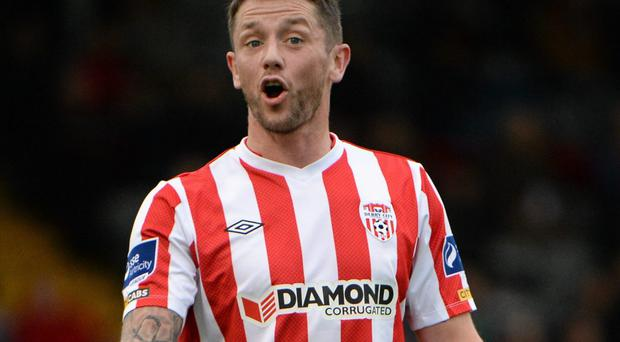 Derry City forward Rory Patterson