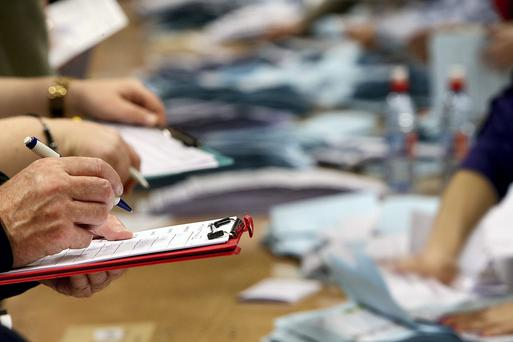 Local election count underway in Citywest. Picture; GERRY MOONEY. 24/5/14